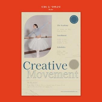 Designvorlage für ballettplakate