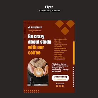 Designvorlage für coffeeshop-geschäftsflyer