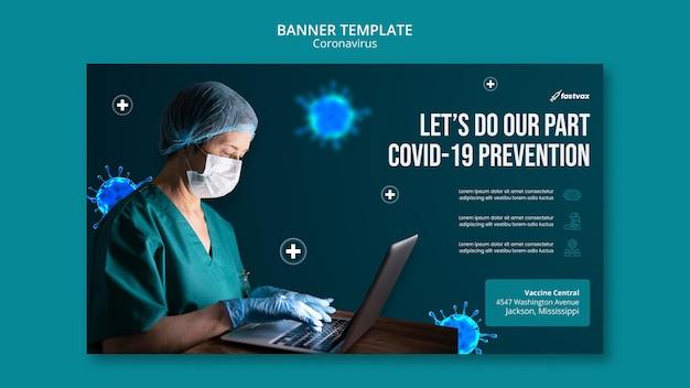 Designvorlage für coronavirus-banner