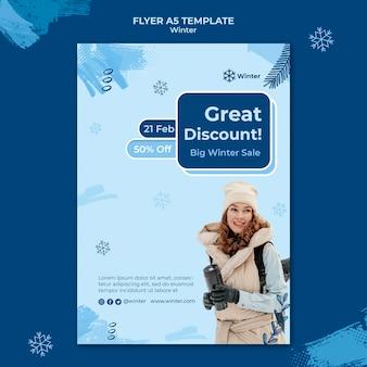 Designvorlage für den winterschluss-flyer