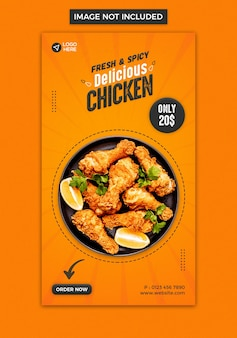 Designvorlage für die instagram-story von food