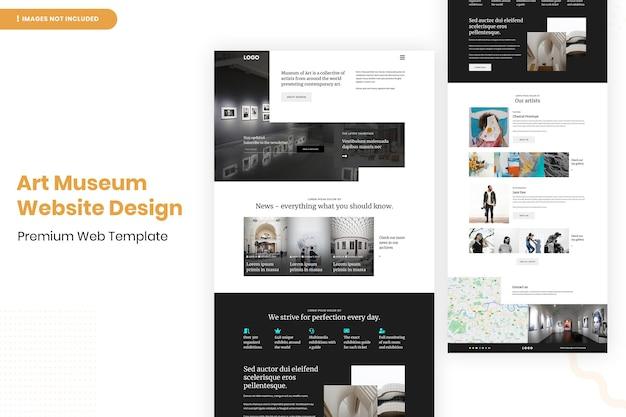 Designvorlage für die website des kunstmuseums