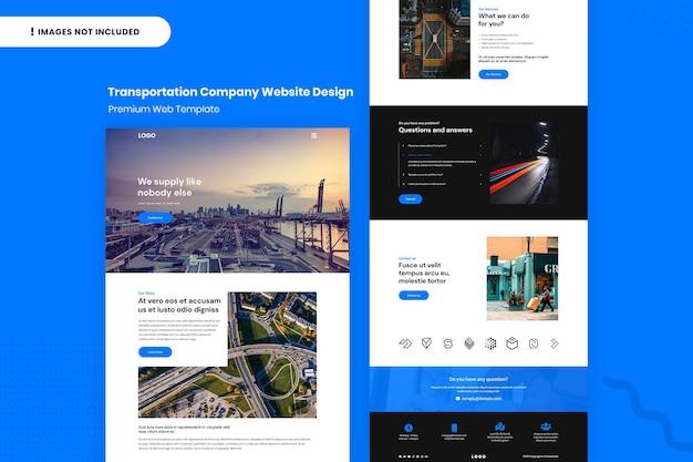 Designvorlage für die website des transportunternehmens