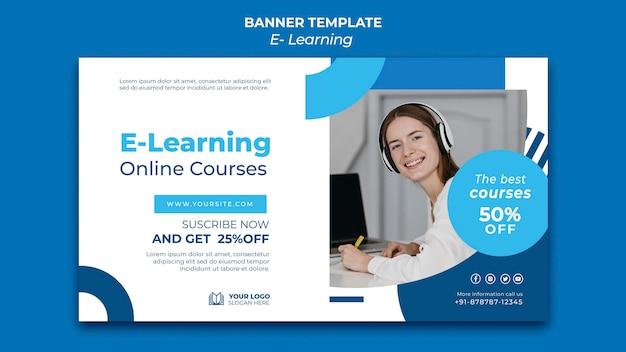 Designvorlage für e-learning-banner