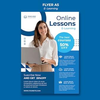 Designvorlage für e-learning-flyer