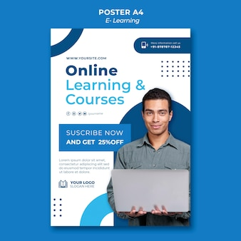 Designvorlage für e-learning-poster