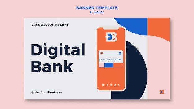 Designvorlage für e-wallet-banner
