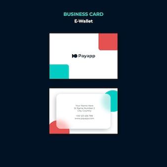 Designvorlage für e-wallet-visitenkarten