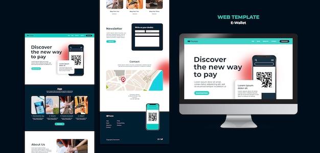 Designvorlage für e-wallet-webvorlagen