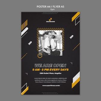 Designvorlage für ein fitnessstudio-poster