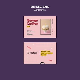 Designvorlage für eventplaner-visitenkarten