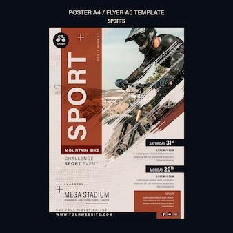 Designvorlage für fahrradsport-flyer