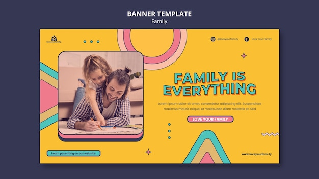Designvorlage für familienbanner