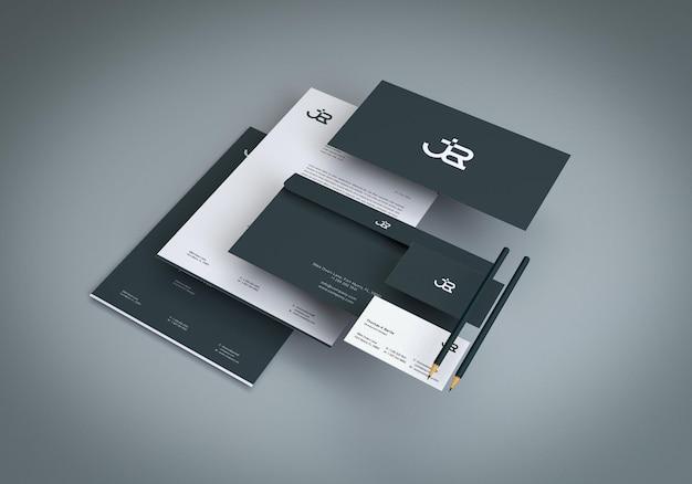 Designvorlage für firmenbriefpapier-mockup