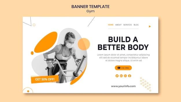 Designvorlage für fitnessstudio-banner