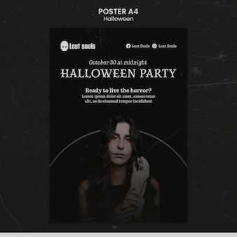 Designvorlage für halloween-poster