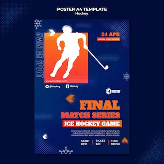 Designvorlage für hockeysport-poster