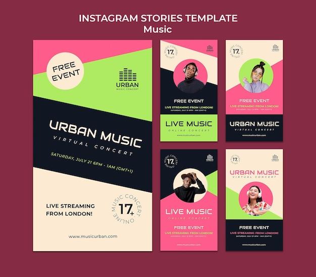 Designvorlage für insta-storys für musikshows