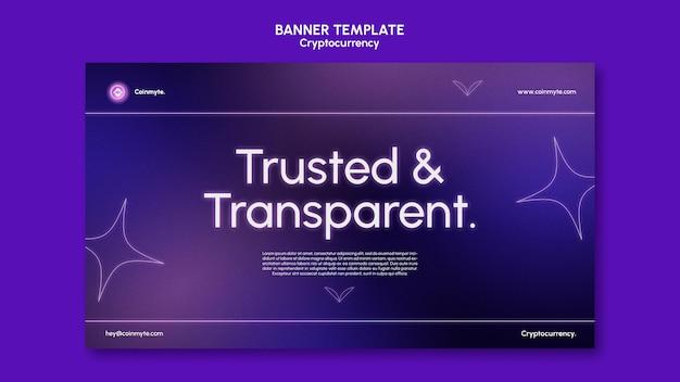 Designvorlage für kryptowährungen für banner