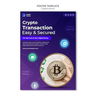 Designvorlage für kryptowährungsplakate