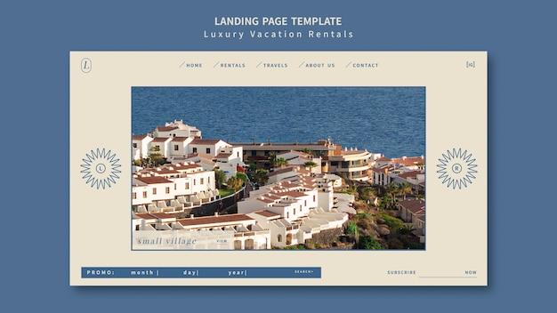 Designvorlage für landingpages für luxus-ferienwohnungen