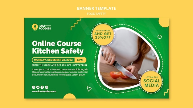 Designvorlage für lebensmittelsicherheitsbanner
