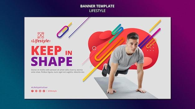 Designvorlage für lifestyle-banner