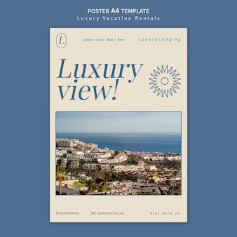 Designvorlage für luxus-ferienwohnungen