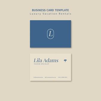Designvorlage für luxusferienwohnungen für visitenkarten
