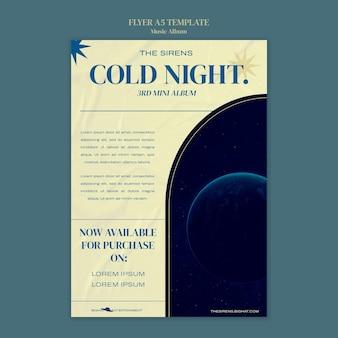 Designvorlage für musikalbum-flyer