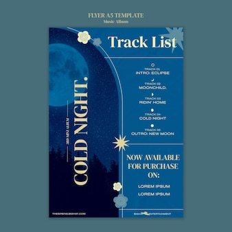 Designvorlage für musikalbumplakate