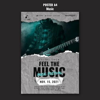 Designvorlage für musikplakate
