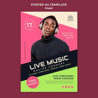 Designvorlage für musikshow-poster