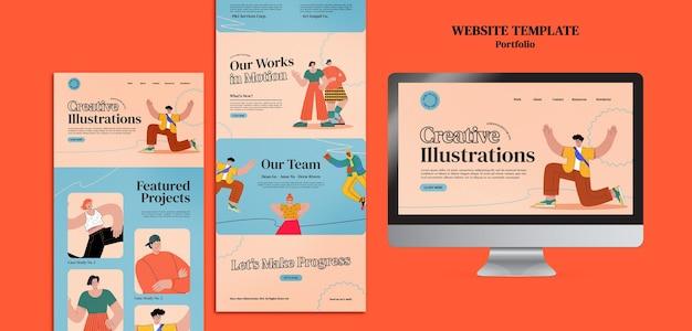 Designvorlage für portfolio-websites