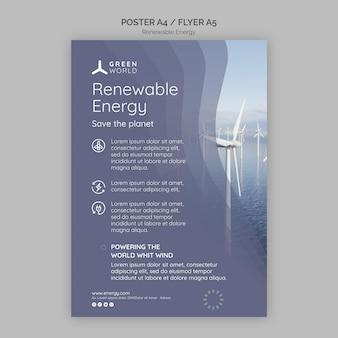 Designvorlage für poster für erneuerbare energien
