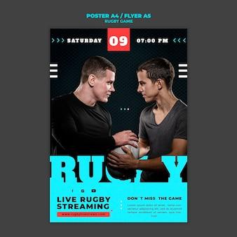 Designvorlage für rugby-spielplakate
