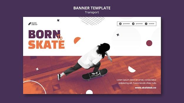 Designvorlage für skate-transportbanner