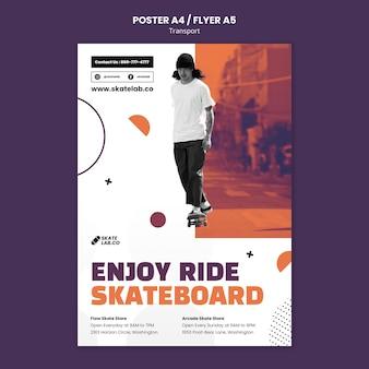 Designvorlage für skatetransportplakate