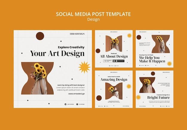 Designvorlage für social-media-beiträge entwerfen