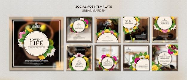 Designvorlage für social-media-beiträge im stadtgarten