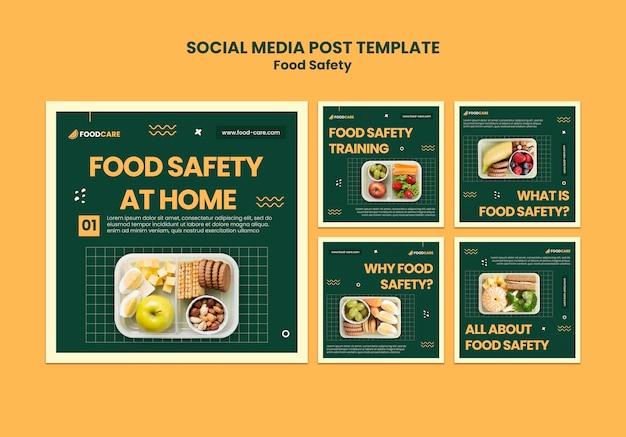 Designvorlage für social-media-beiträge zur lebensmittelsicherheit