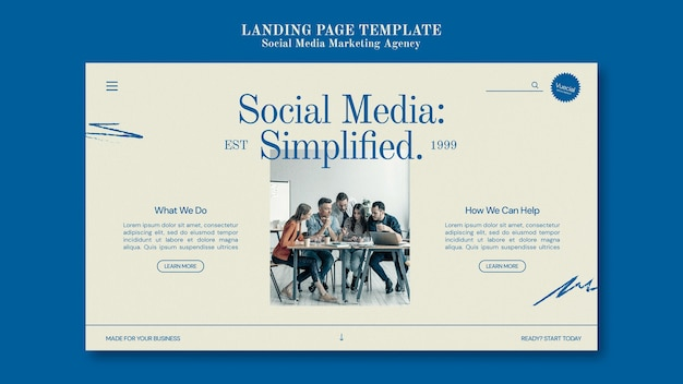 Designvorlage für social media-marketingagenturen