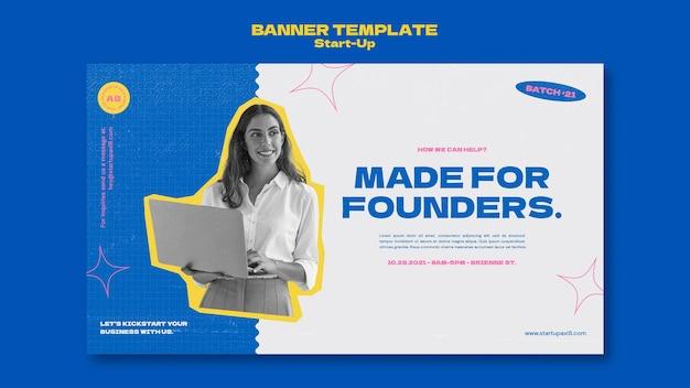 Designvorlage für startup-banner
