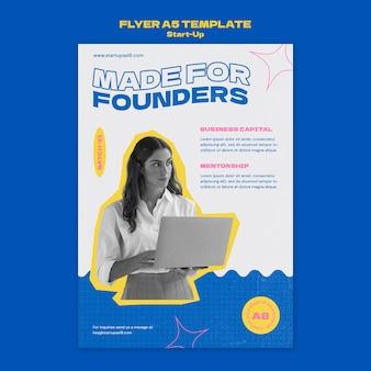 Designvorlage für startup-flyer