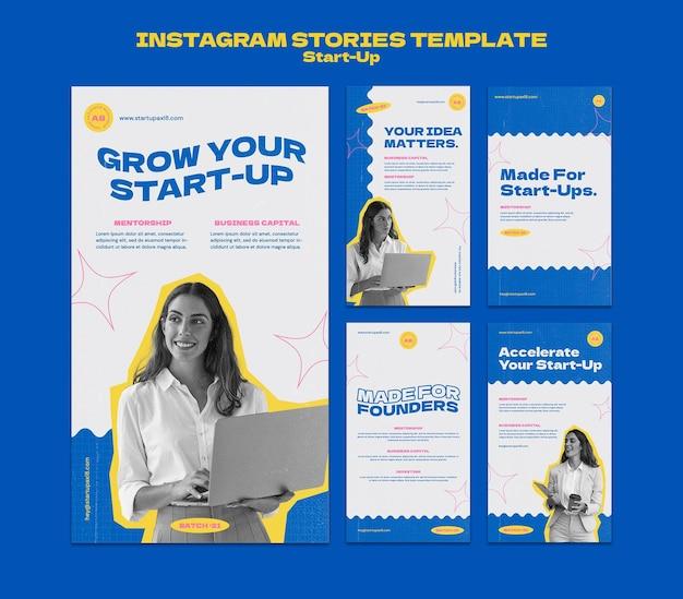 Designvorlage für startup-insta-story