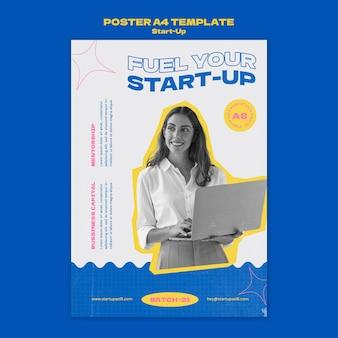 Designvorlage für startup-poster
