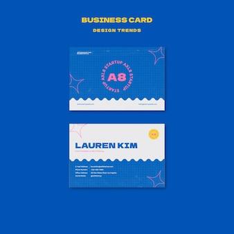 Designvorlage für startup-visitenkarten