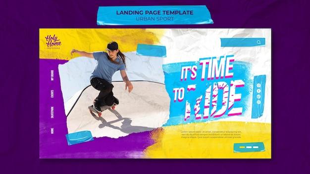 Designvorlage für urbane sport-landingpages