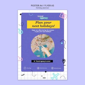 Designvorlage für veranstaltungsplaner-poster