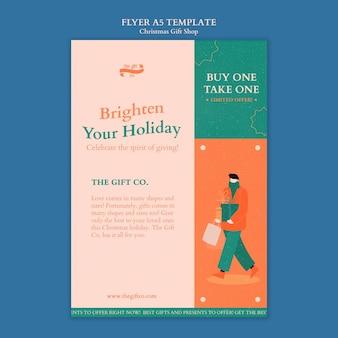 Designvorlage für weihnachtsgeschenkplakat-cover